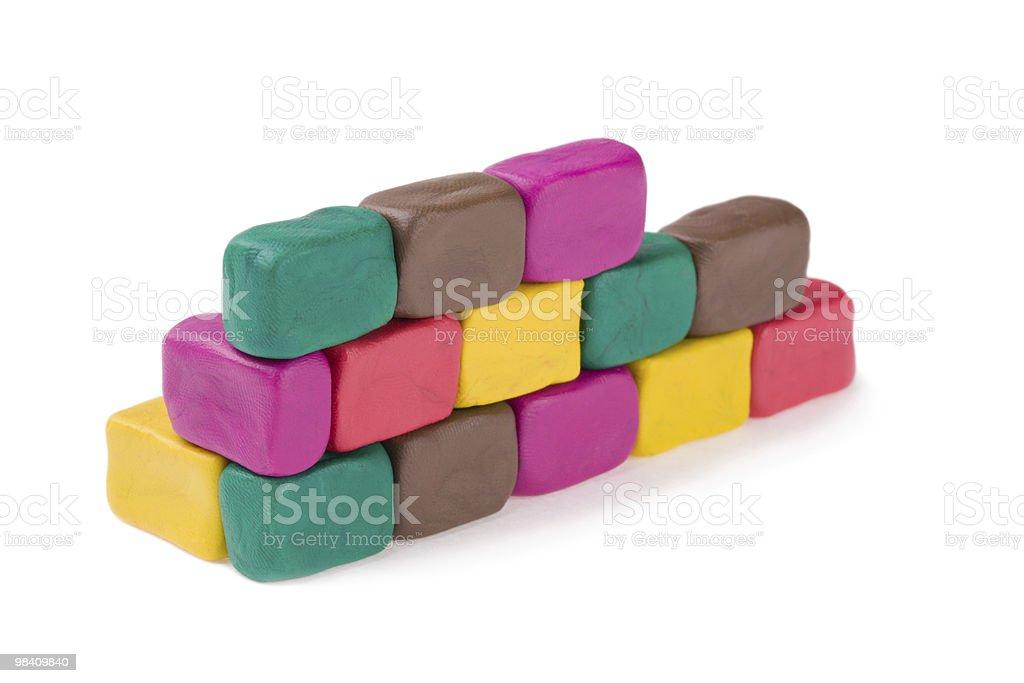 plasticine brick wall royalty-free stock photo