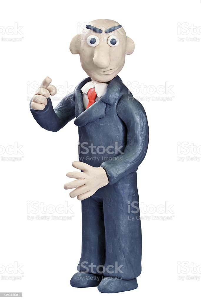 plasticine businessman royalty-free stock photo