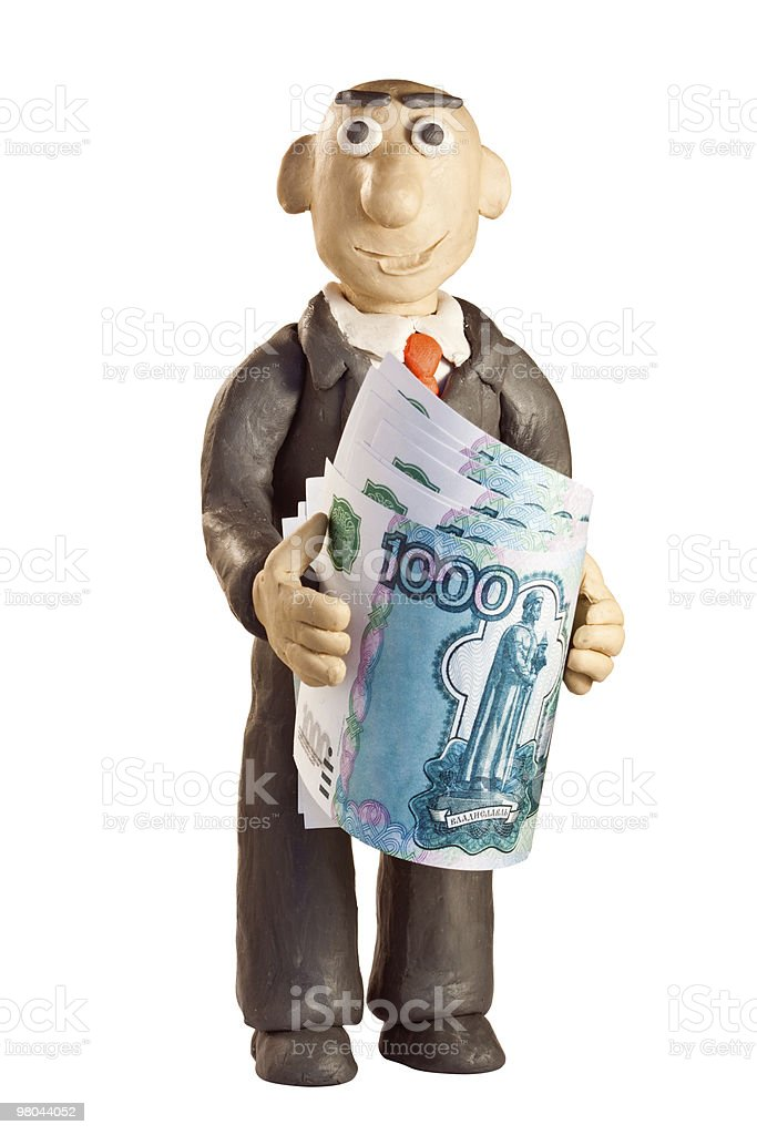 plasticine businessman royalty-free stock photo