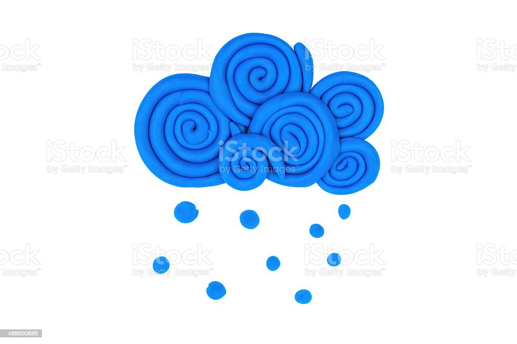 Plasticine cloud. stock photo