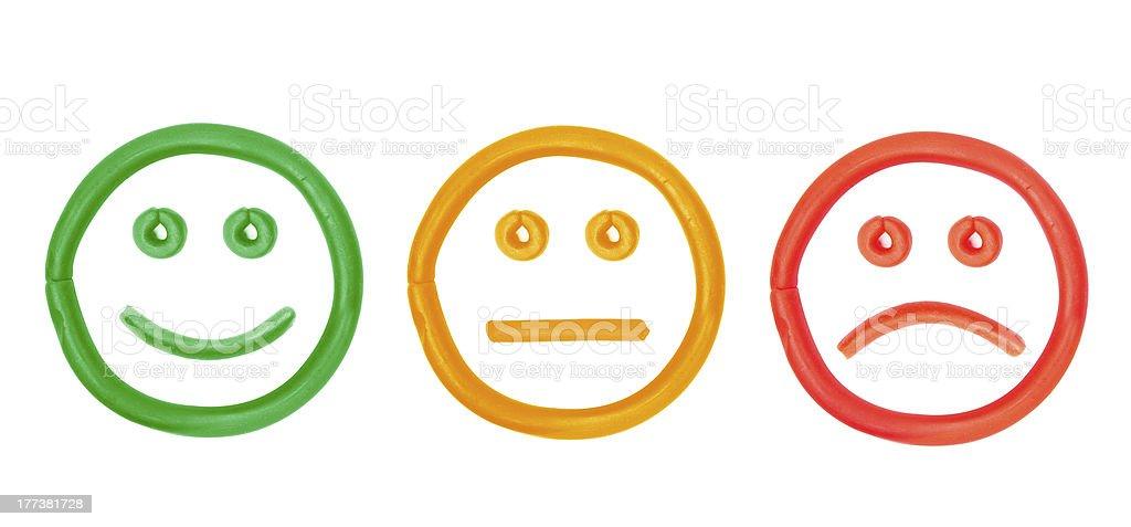 plasticine faces stock photo