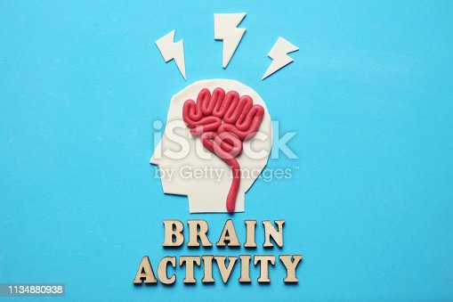 585087100 istock photo Plasticine head and mind. Abstract psychology. Future artificial machine 1134880938