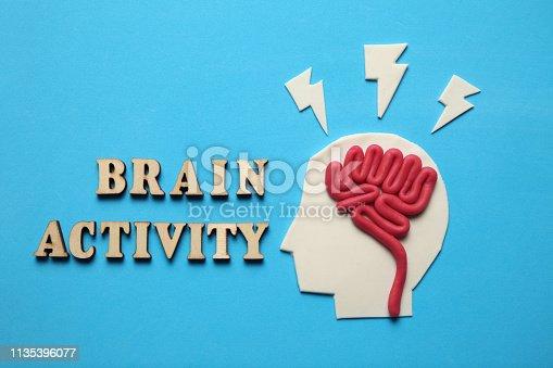 585087100 istock photo Plasticine head and mind. Brain activity, intelligent concept 1135396077