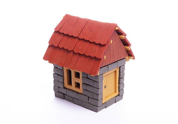 plasticine house stock photo