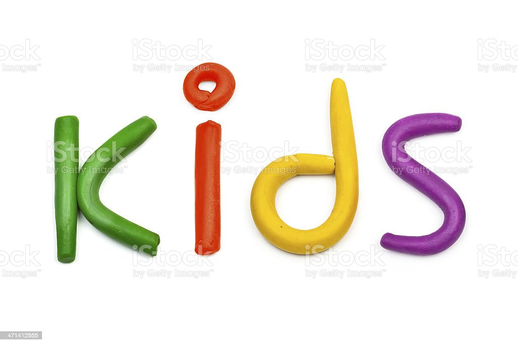 plasticine kids message royalty-free stock photo