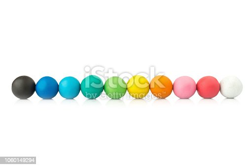 plasticine. play dough. clay. circle colorful. isolated on white background.