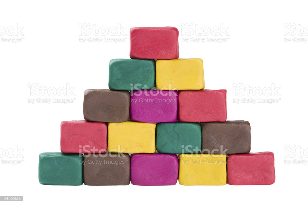 plasticine pyramid royalty-free stock photo