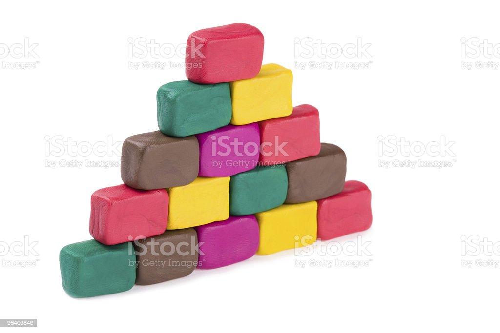 plasticine pyramid royalty-free stock photo