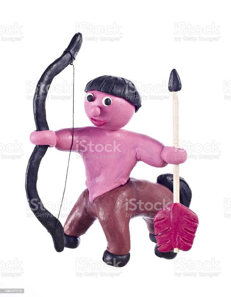 Plasticine Sagittarius stock photo