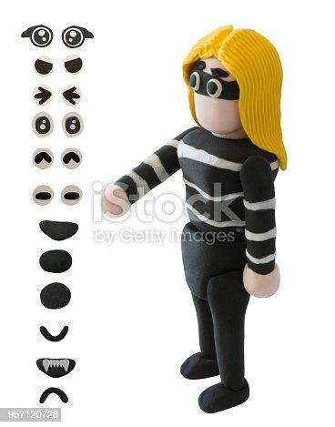 istock Plasticine Thieve woman in Handshake action 957120728