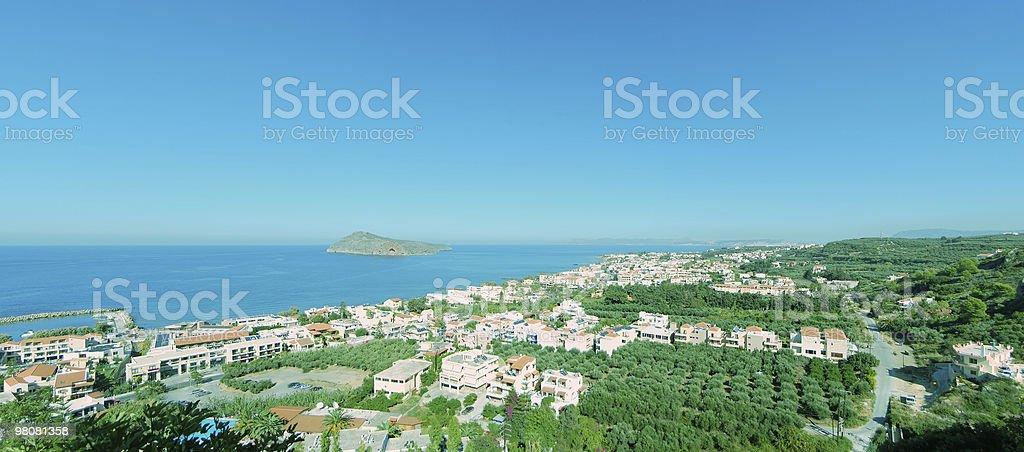 Platanias elevated panorama royalty-free stock photo