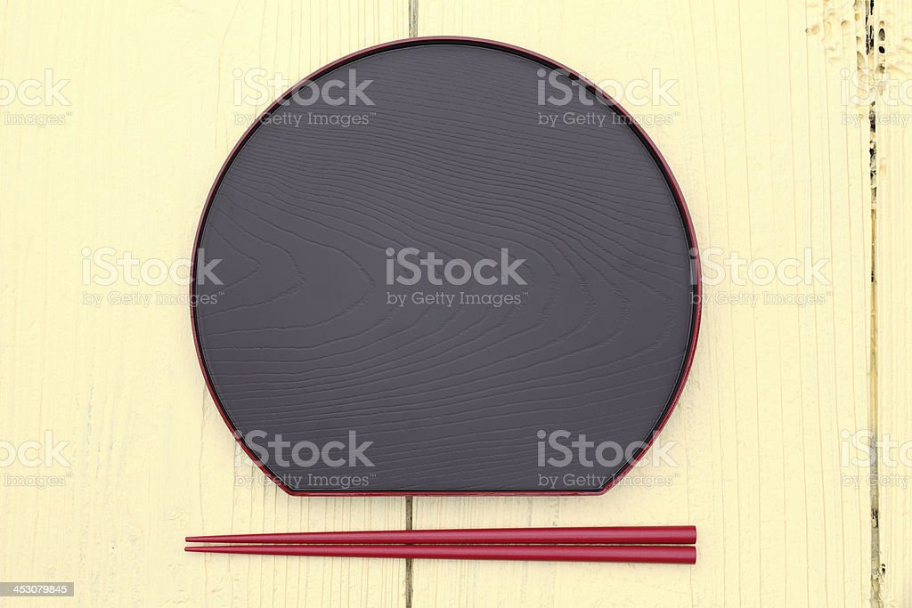 plate and chopsticks royalty-free stock photo