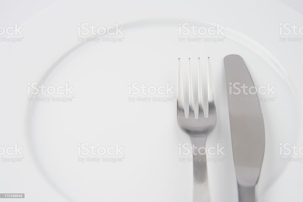 Plate and cutlery royalty-free stock photo