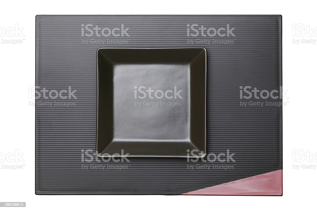 plate and tray on white background stock photo