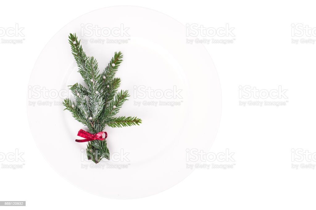 plate background for new year or christmas menu royalty free stock photo