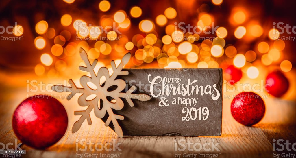 Weihnachten 2019 In Deutschland.Platte Kalligraphie Frohe Weihnachten Und Ein Glückliches Jahr 2019