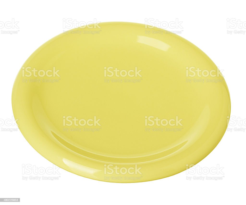Plate, dish yellow isolated royalty-free stock photo