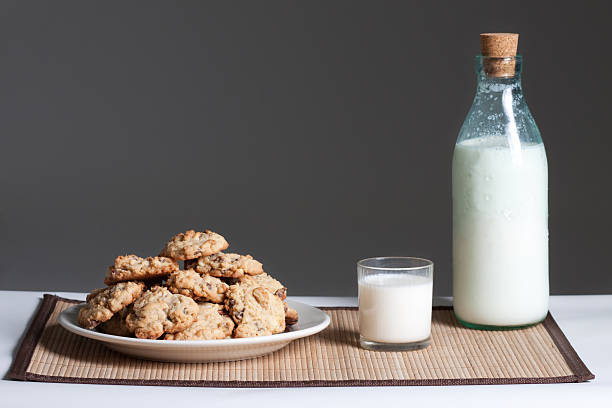 Image result for milk jug with plate of cookies
