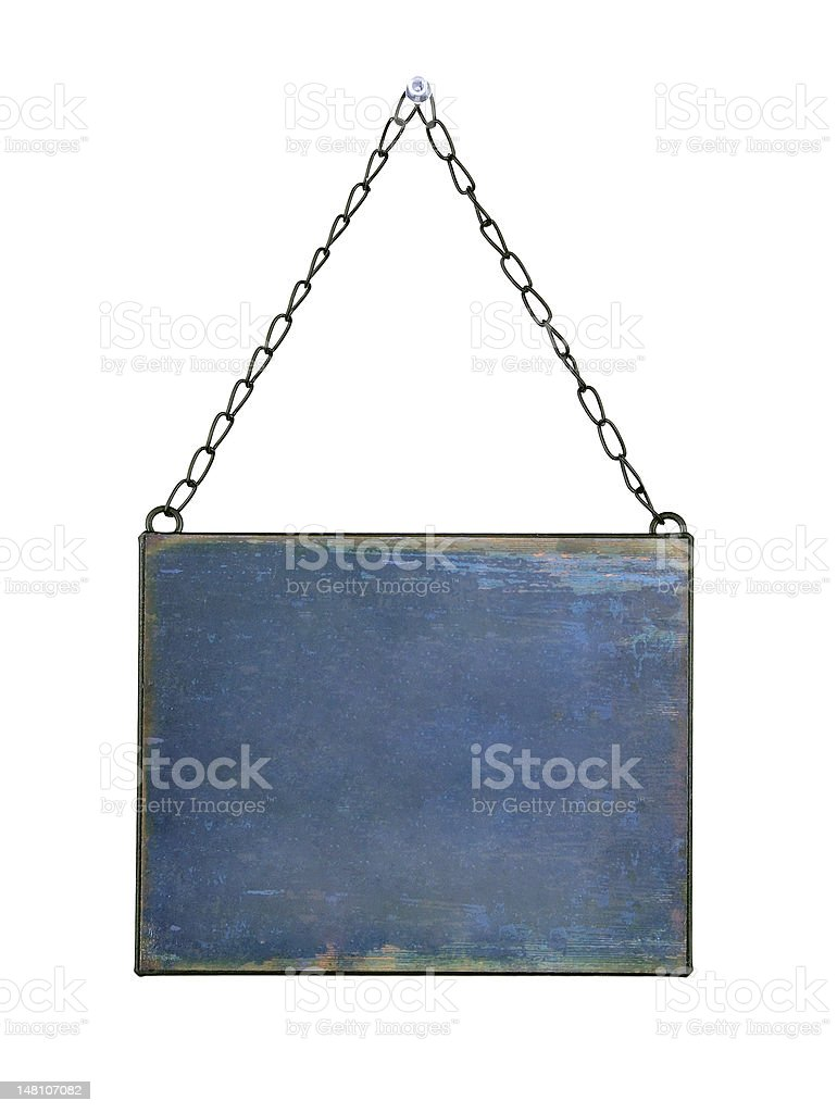 plate hanged on chains royalty-free stock photo