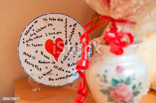 istock Plate I love you in different languages 585075872