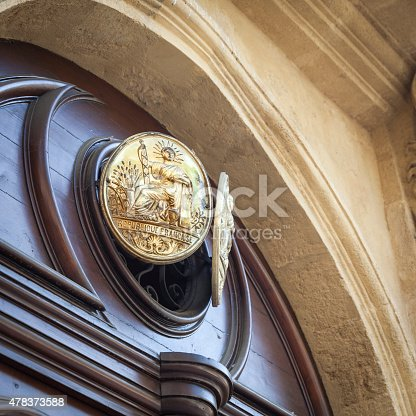 845085240istockphoto Plate indicating a notary 478373588