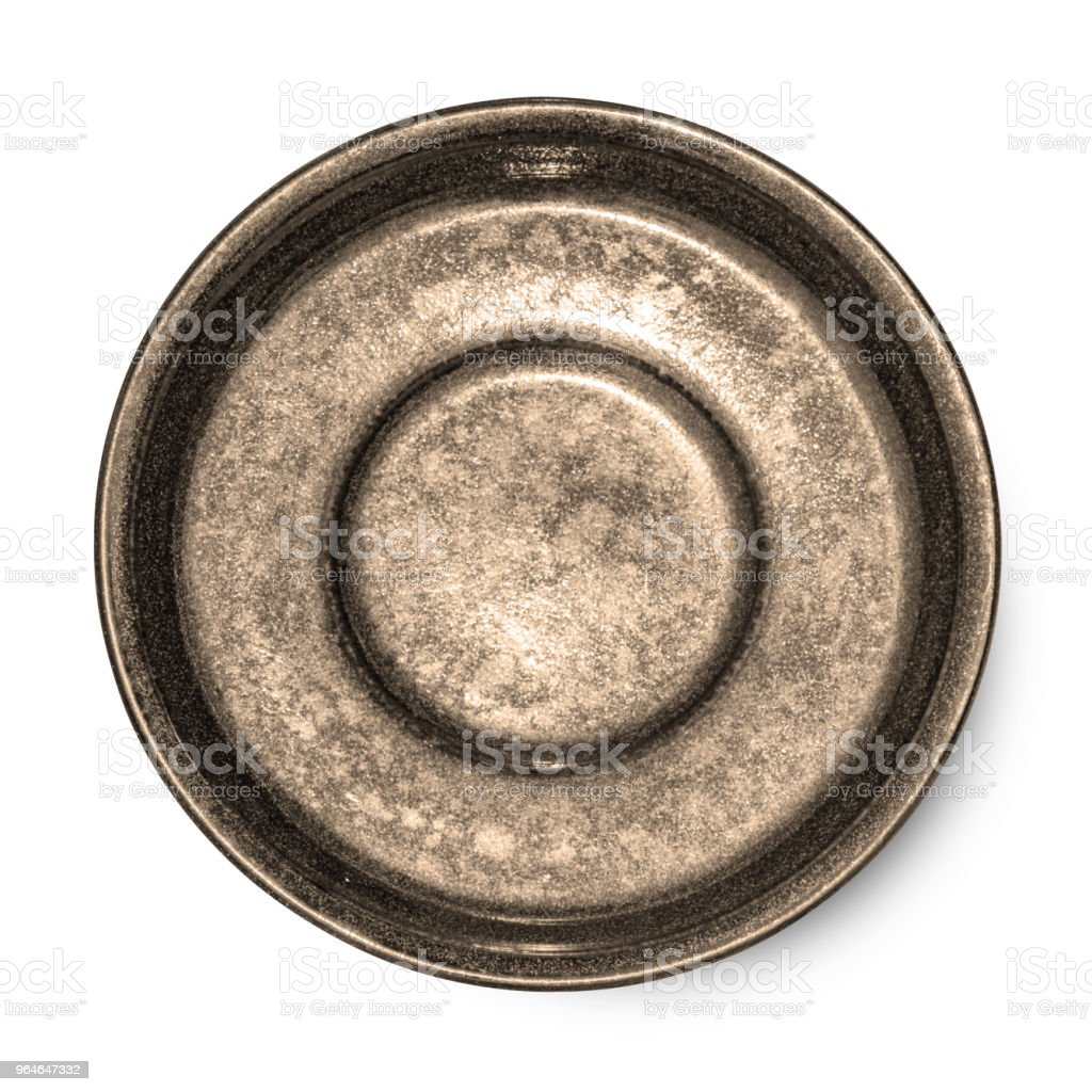plate isolated on white background. royalty-free stock photo
