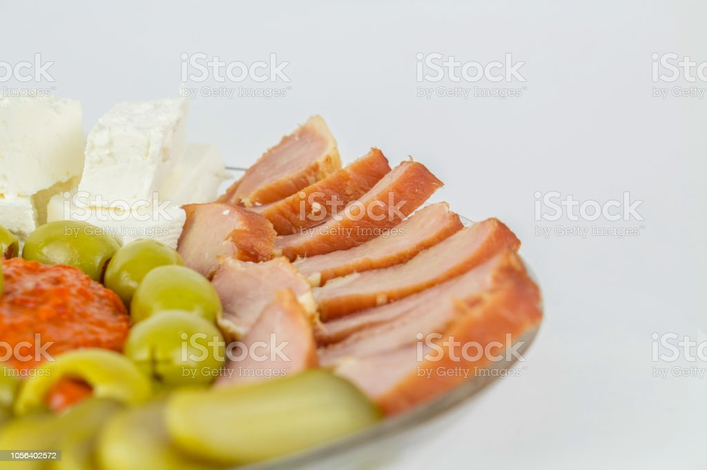 Plate of appetizers stock photo