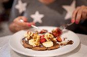 Plate of belgian waffles