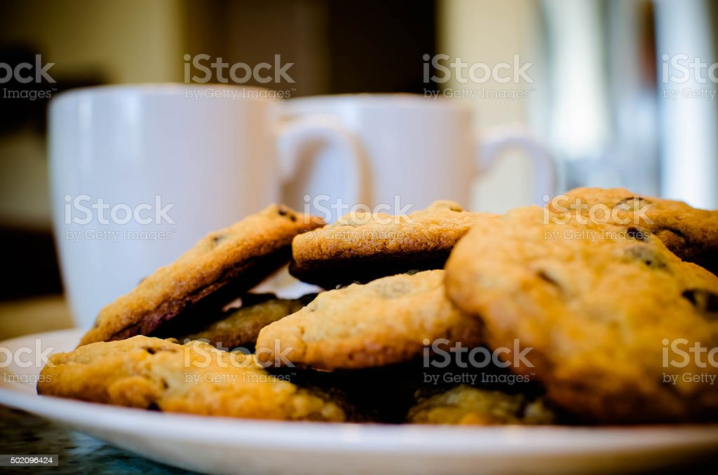 Plate of cookies stock photo