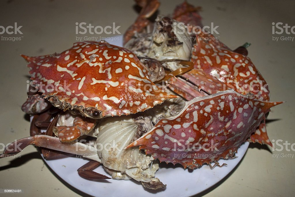 Plate of crabs stock photo