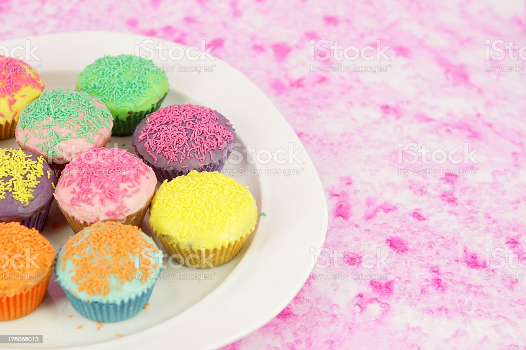 Plate of cupcakes royalty-free stock photo
