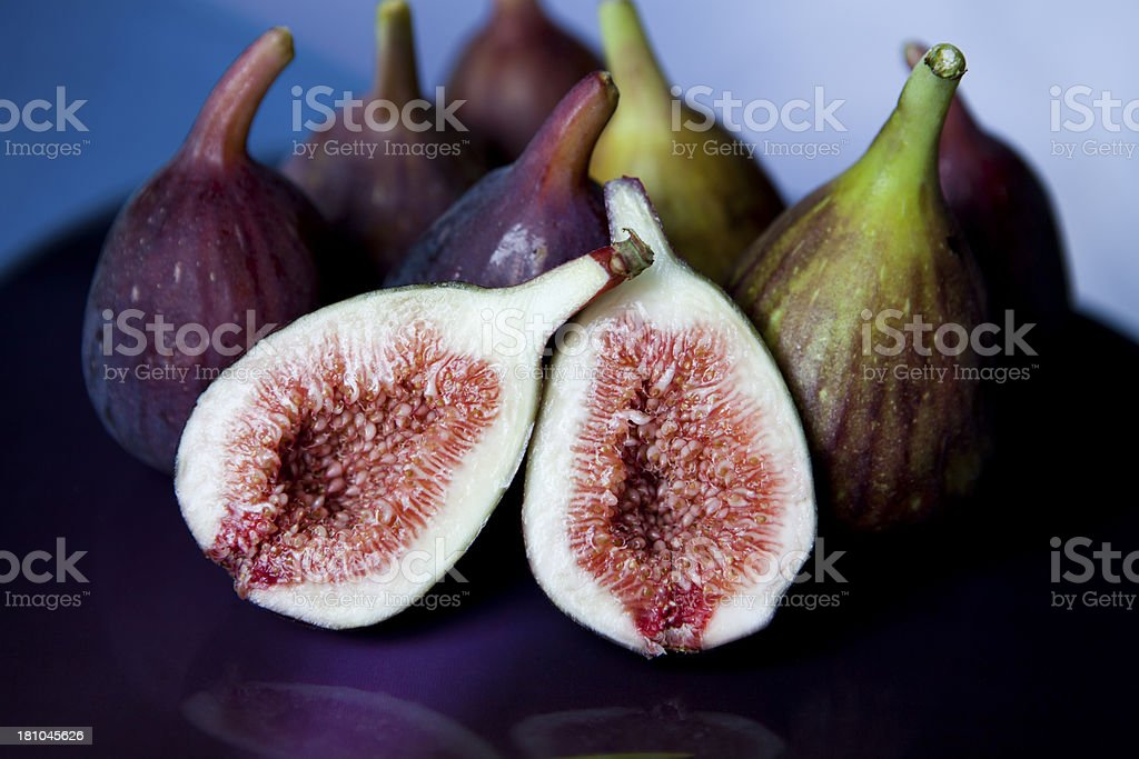 Plate Of Figs royalty-free stock photo
