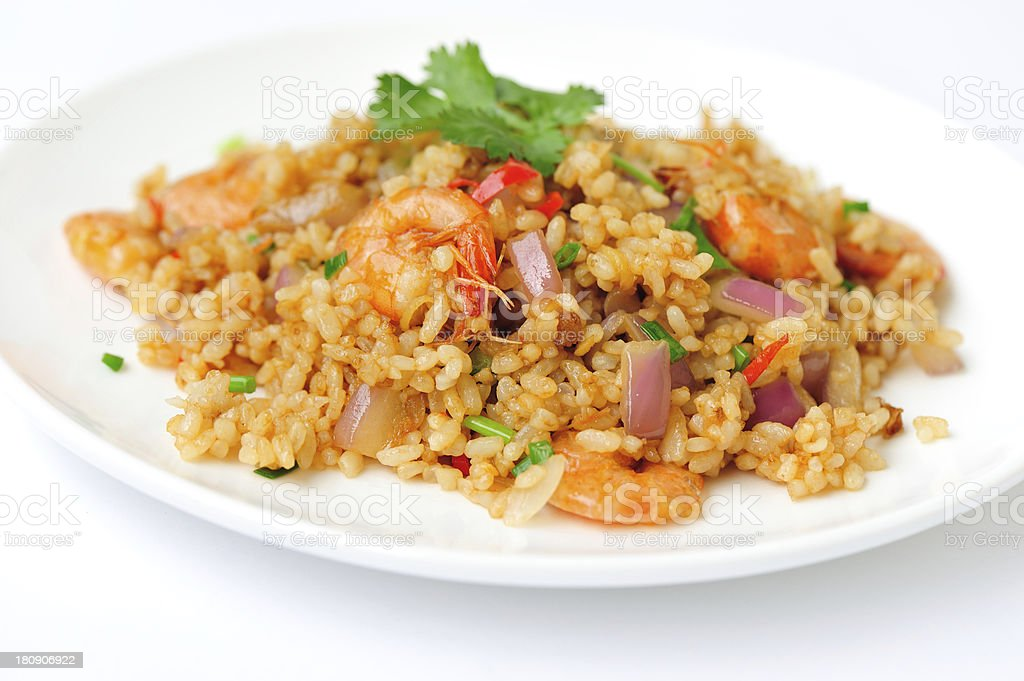 Plate of fried rice stock photo