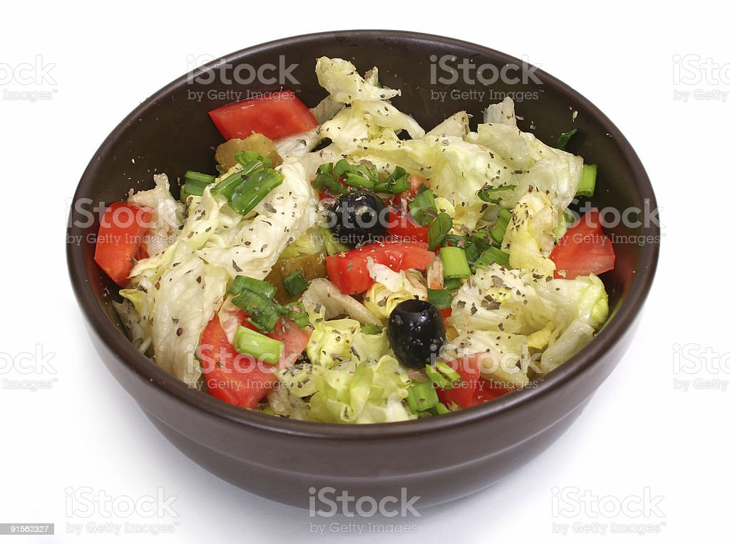 Plate of green salad royalty-free stock photo