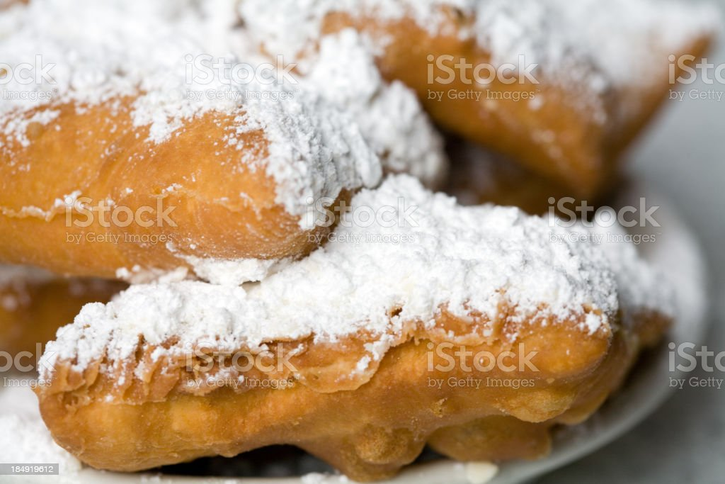 Plate of Hot Beignets stock photo