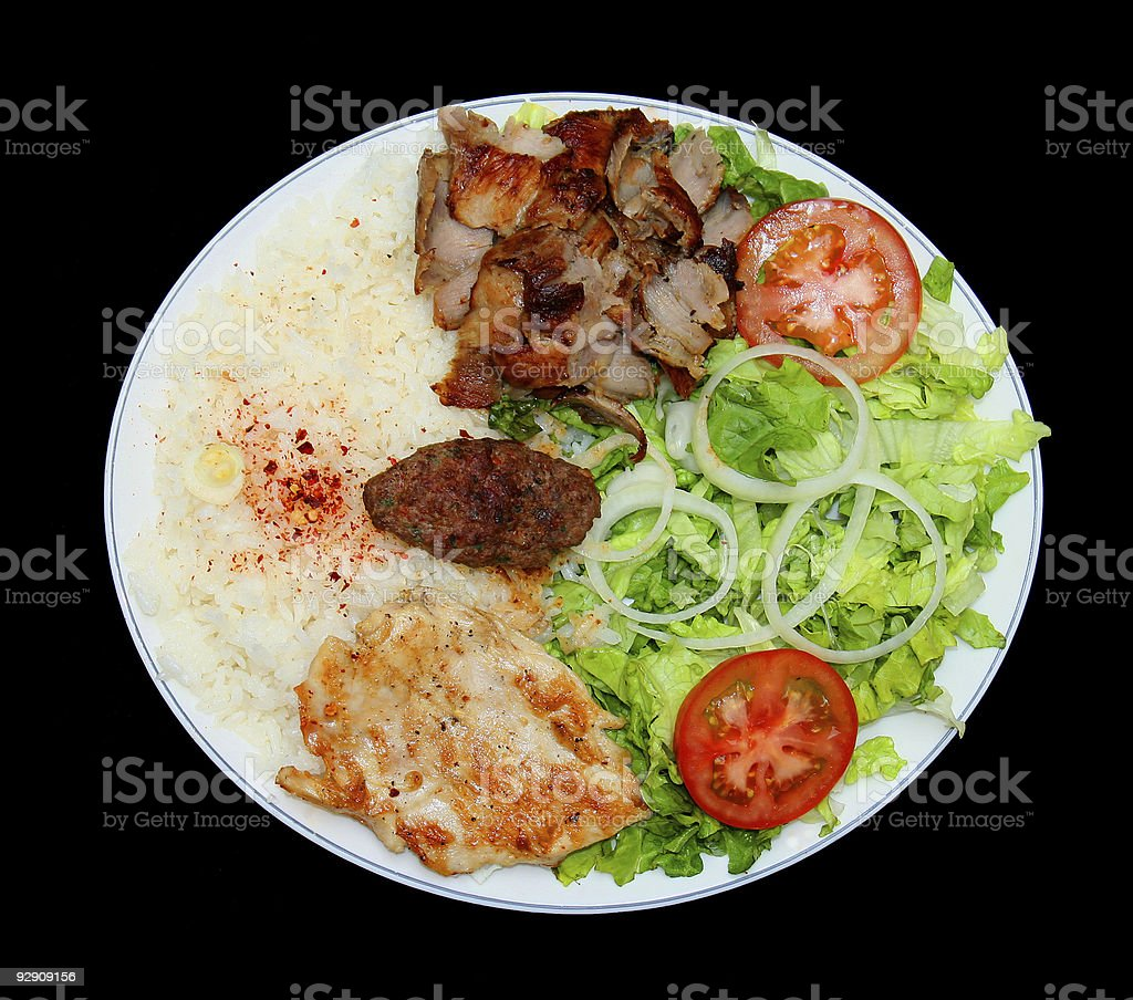 plate of kebab stock photo