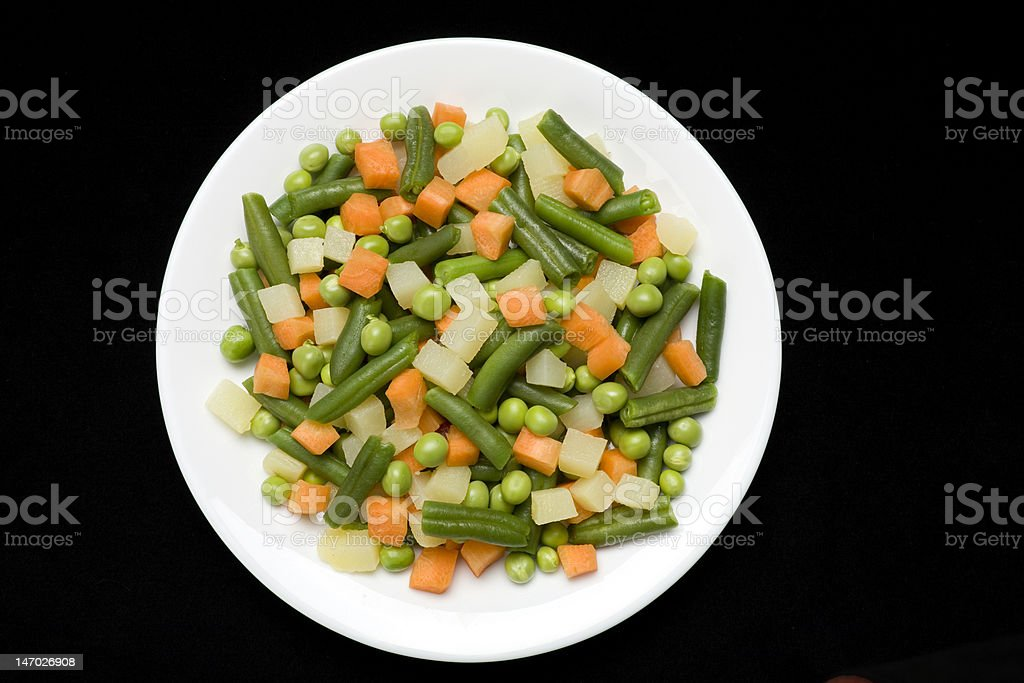 Plate of mixed vegetables 2 royalty-free stock photo