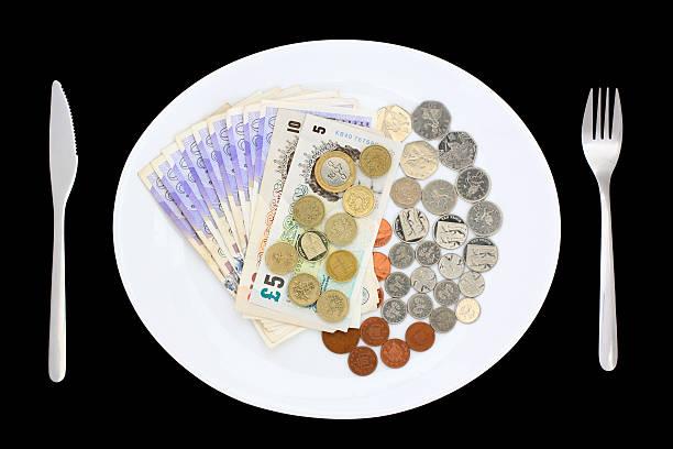 Plate of Money stock photo