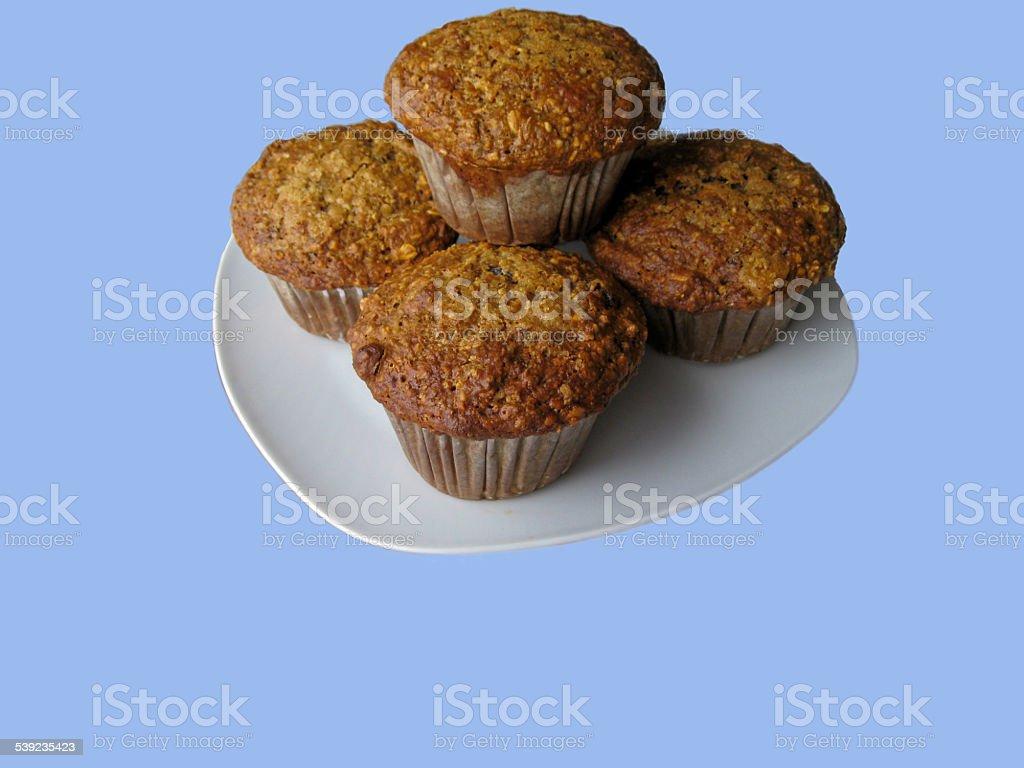 Prato de muffins foto royalty-free