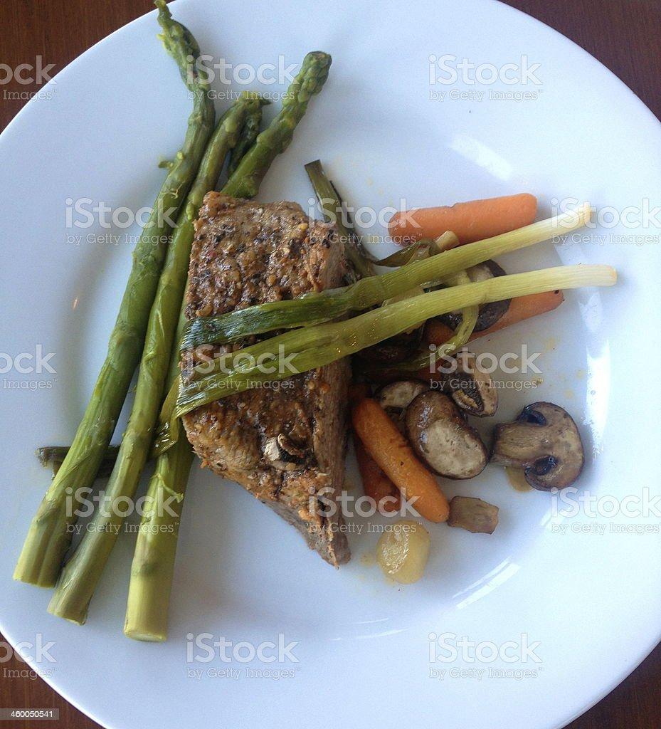 Plate of Roast stock photo