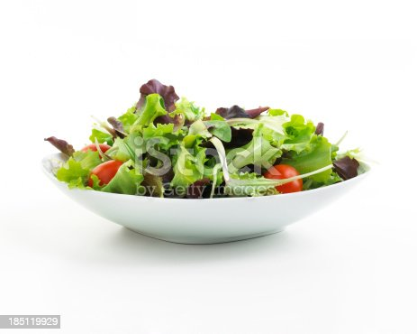 plate of Salad isolated on white