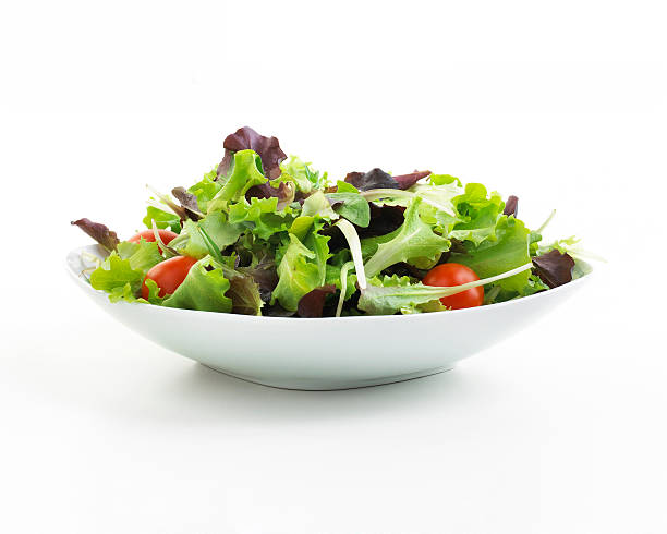 plate of salad - lettuce stock pictures, royalty-free photos & images