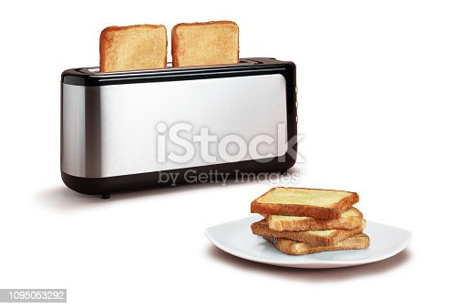 Plate of Toast with Toaster