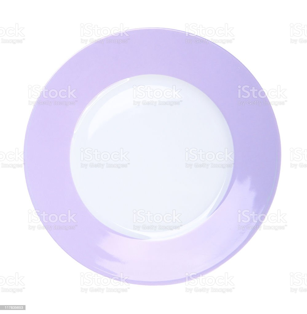 Plate on white background royalty-free stock photo