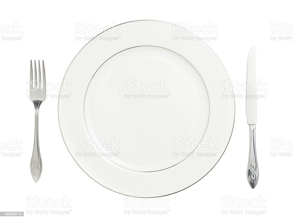 Plate (isolated with clipping path over white background) royalty-free stock photo