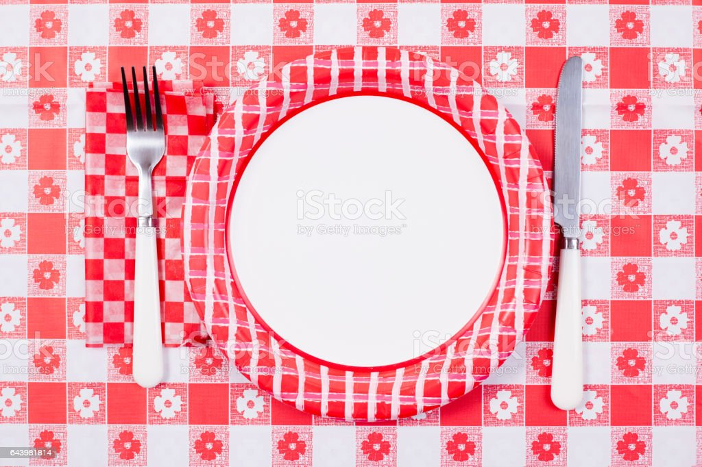 Plate place setting on picnic table. royalty-free stock photo  sc 1 st  iStock & Plate Place Setting On Picnic Table Stock Photo u0026 More Pictures of ...