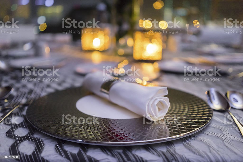 Plate Setting stock photo