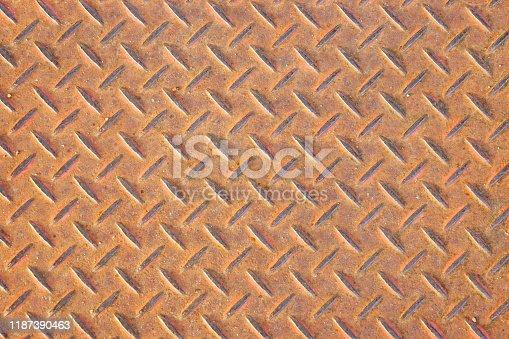 615100828istockphoto Plate steel pattern 1187390463