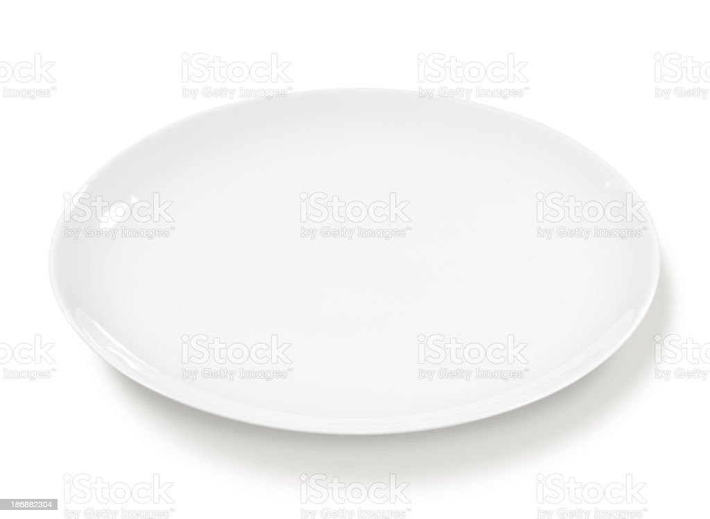 Plate white and empty royalty-free stock photo