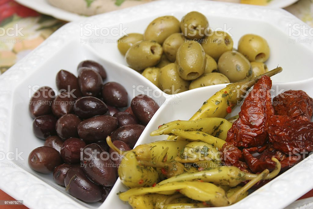 plate with antipasti royalty-free stock photo